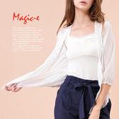 魔法e裳《 細緻網紗水鑽荷葉邊罩衫》-X020