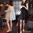 無袖大碼洋装 棉麻洋裝女2020韓國寬松大碼學生無袖a字娃娃裙小清新公主裙夏 洛小仙女鞋