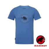 【MAMMUT 長毛象】Mammut Garantie 男 短袖 圓領印花T恤『海藍』1041-07970 短袖透氣運動服