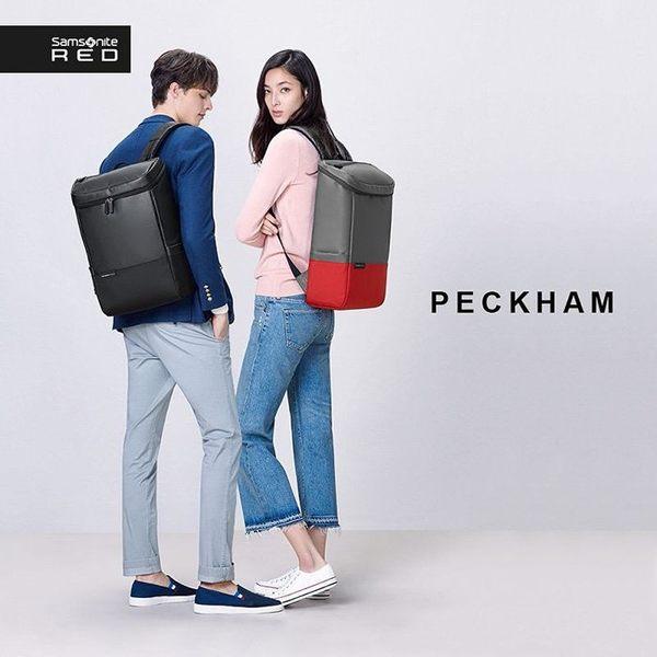[佑昇]↘7折 Samsonite RED【國際廣告款 PECKHAM AU4】時尚潮流 15吋筆電後背包 超質感後背包