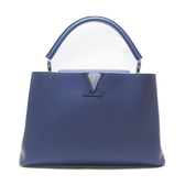 LOUIS VUITTON LV 路易威登  藍紫色牛皮手提包 CAPUCINES MM M94390 【BRAND OFF】