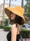 熱賣漁夫帽 大帽檐漁夫帽女夏季遮陽遮臉防曬紫外線韓版百搭大沿日系太陽帽子 coco