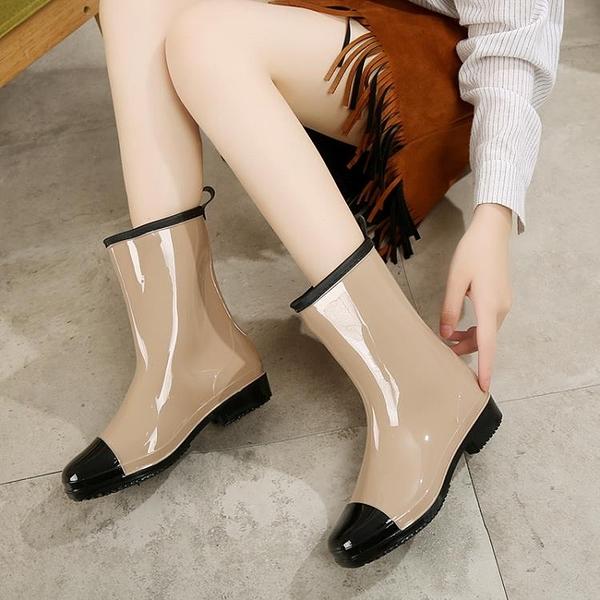雨鞋女中筒時尚