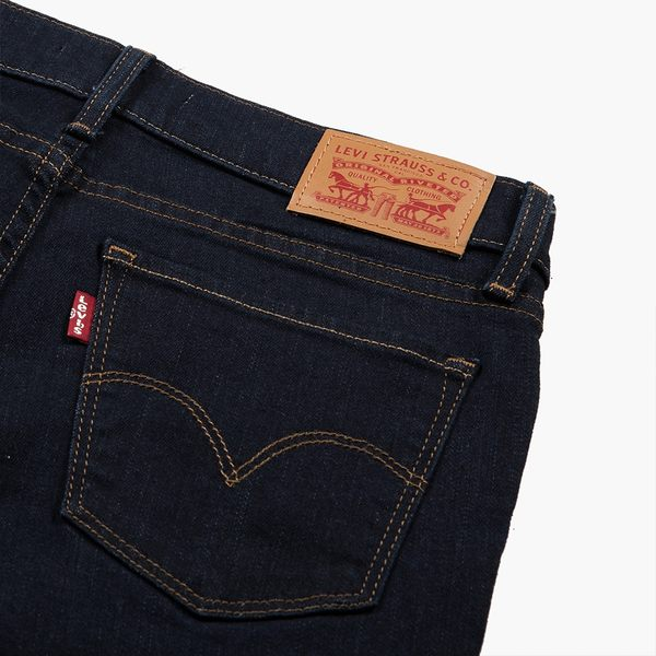 [第2件1折]Levis 女款 711 中腰緊身窄管牛仔長褲 / 亞洲版型 / 原色基本款 / 高彈力布料