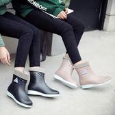 雨靴 韓國果凍雨鞋膠鞋套鞋防水防滑水鞋水靴成人短筒雨靴