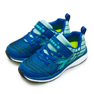 LIKA夢 DIADORA 迪亞多那 19cm-23cm 輕量4E寬楦避震慢跑鞋 幾何魔幻系列 藍綠 5796 中童