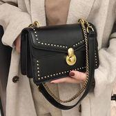 上新小包包潮韓版百搭斜挎包鏈條網紅小黑包復古單肩包 星辰小鋪
