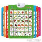 識字卡 有聲掛圖拼音兒童認知啟蒙早教墻貼發聲寶寶看圖識字卡玩具 宜室家居