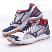 樂買網 MIZUNO 18SS 進階款 排球鞋 SUPERSONIC系列 V1GA184014 丈青x白 贈防撞護膝