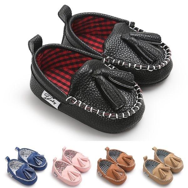 童裝 童鞋 流蘇紳士豆豆鞋 兒鞋 學步鞋 防滑點膠 嬰兒鞋 室內鞋 0~24M 橘魔法 現貨 寶寶鞋
