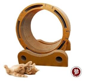 【超人百貨T】貓之風火輪 Box Meow 瓦楞貓抓板-風火輪 (CS035) 一卡車的貓咪也能一起同樂
