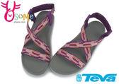 美國TEVA 女款涼鞋 極致輕量 弧度支撐 Terra-Float 交叉帶運動涼鞋 I6437#粉紅◆OSOME奧森童鞋/小朋友