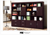 【MK億騰傢俱】BS238-08肯尼胡桃色8.1尺書櫥組