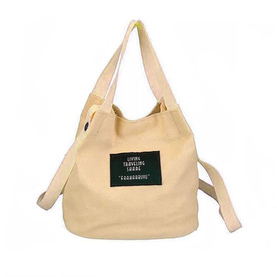 帆布包 手提包 水桶包 帆布袋  隨身袋 手提袋 旅行袋 斜背 女包 韓版 帆布斜背包【N108】MY COLOR