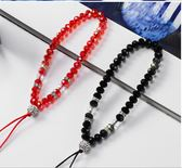創意個性掛飾水晶長短錬女款外殼通用掛件