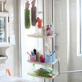 ♚MY COLOR♚不鏽鋼浴室置物架 頂天立地 免打孔 廚房 轉角 調味 簡易 伸縮 簡易 居家【W24】