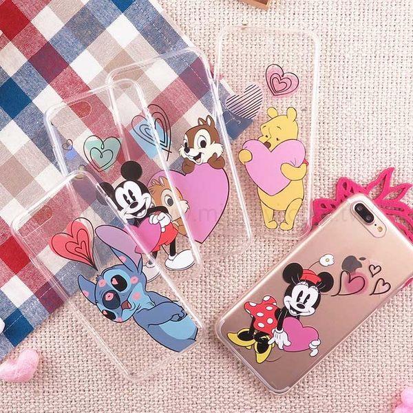 【Disney】迪士尼iPhone 8 Plus /7 Plus5.5 愛心飛飛系列透明保護軟套