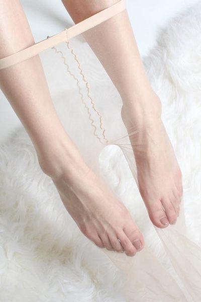 裸膚色一線襠絲襪超薄隱形全透明連褲襪腳尖性感肉色0D無痕夏季檔『櫻花小屋』