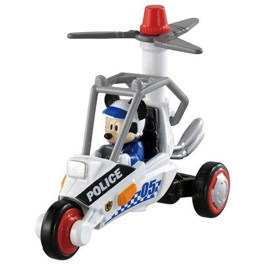 小禮堂 TOMICA多美小汽車 迪士尼 米奇妙妙車隊 三輪警車 玩具車 模型車 (DS-05 黑白) 4904810-16311
