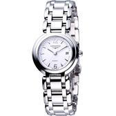 LONGINES 浪琴 PrimaLuna 新月經典水漾機械腕錶/手錶-銀 L81114166