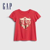 Gap女幼活力亮色圓領短袖T恤577350-橡皮紅