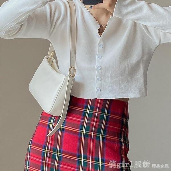 單肩包 包包女韓版2020新款ins復古百搭單肩腋下包法棍包單肩包手提包包 開春特惠