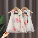女童洋裝 女童旗袍夏季連身裙中國風兒童小女孩公主裙女寶寶夏裝花朵裙子