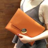 韓版大容量女手拿包2018春季潮流簡約信封包時尚氣質手抓包鏈條包