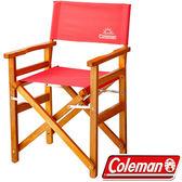 Coleman CM-27857-草莓紅 戶外露營經典木椅 公司貨