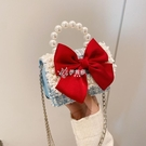 胸包 兒童包包小女孩公主女童斜背包時尚卡通潮可愛鏈條配飾珍珠手提包