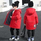 兒童棉服男 男童羽絨棉衣棉服襖加絨過拜新年中長款冬裝2021新中大兒童【快速出貨八折搶購】