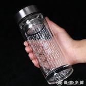 大悲咒玻璃杯心經水晶杯佛教用品雙層保溫水杯經文便攜辦公茶杯子 優家小鋪