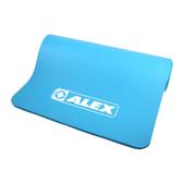 ALEX 運動地墊10mm(圓角) (瑜珈墊 塑身 止滑墊 附收納袋≡體院≡