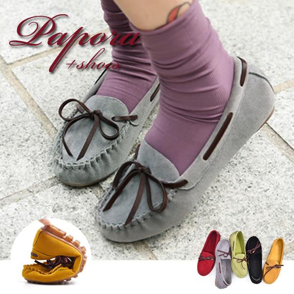 平底鞋‧多色樣式經典款豆豆鞋平底鞋【K1314】灰/紅/黑/黃(偏小)