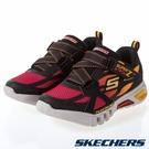 SKECHERS FLEX-GLOW 童鞋 中童 慢跑 休閒 閃燈 可開關 緩衝 穩定 黑 紅 黃【運動世界】400015LBKRD