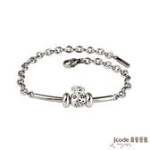 J'code真愛密碼 金錢袋 純銀/白鋼手鍊