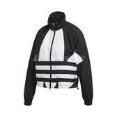 adidas 外套 Large Logo Track Jacket 黑 白 女款 立領外套 運動休閒 【PUMP306】 FM2622