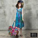 手工染色印度洋裝(藍色)-F【潘克拉】...