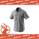 【Wildland 荒野 男 排汗抗UV短袖襯衫《中灰》】W1206-92/透氣排汗/UPF30+/防曬襯衫/登山