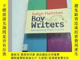二手書博民逛書店Boy罕見Writers: Reclaiming Their V