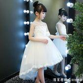 公主裙女童蓬蓬紗兒童禮服小主持人女孩鋼琴演出服花童拖尾婚紗夏 漾美眉韓衣