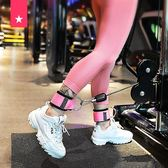 拉力器龍門架練腿練臀部力量健身訓練器材腳環綁腿扣腳踝綁帶拉力繩配件 小明同學