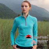 【EasyMain 衣力美 女款 高效能輕暖休閒衫《湖水藍》】SE16068/超細纖維/快乾透氣/不易起球★滿額送