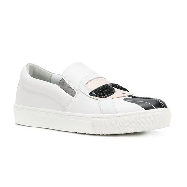 Karl Lagerfeld 卡爾 老佛爺 女鞋  KUPSOLE Q版樂福鞋-白