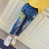 女中童夏季女童裝長褲小孩寬鬆兒童牛仔褲子