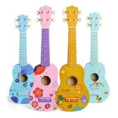 烏克麗麗彩色卡通圖案尤克裏裏21寸小吉他初學者ukulele烏克麗麗尤裏克克LX 玩趣3C