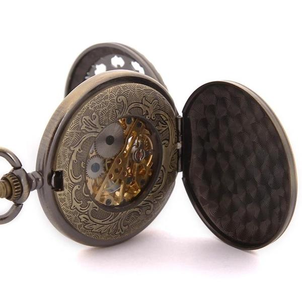 懷錶 機械懷表時尚復古翻蓋男女士學生表長輩潮流考試學生手表【快速出貨】