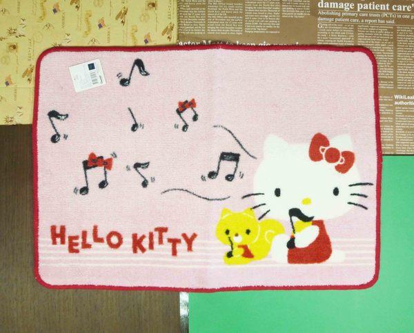 【震撼精品百貨】Hello Kitty 凱蒂貓~地墊~音符圖案-粉色