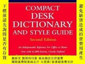 二手書博民逛書店Webster s罕見New World Compact Desk Dictionary And Style Gu