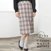❖ Winter ❖ 格紋膝下窄身裙- E hyphen world gallery